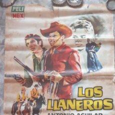 Cine: CARTEL DE LA PELÍCULA LOS LLANEROS. Lote 290995223