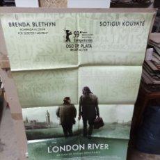 Cine: LONDON RIVER BRENDA BLETHYN POSTER ORIGINAL 70X100 M243. Lote 291395188