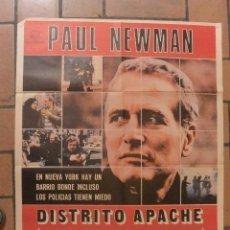 Cine: CARTEL POSTER CINE DISTRITO APACHE PAUL NEWMAN. Lote 291465978