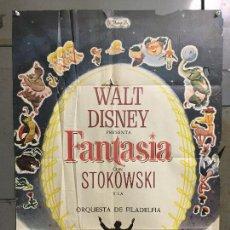 Cine: CDO M830 FANTASIA WALT DISNEY MICKEY MOUSE STOKOWSKI POSTER ORIGINAL 70X100 ESPAÑOL R-68. Lote 291495498