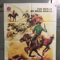 Cine: CDO M838 LA DILIGENCIA DE LA MUERTE WESTERN MEJICANO LUIS AGUILAR POSTER ORIGINAL 70X100 ESTRENO. Lote 291503243