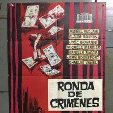 Cine: CDO M840 SINFONIA PARA UN MASACRE RONDA DE CRIMENES MICHELE MERCIER ROCHEFORT POSTER 70X100 ESTRENO. Lote 291506718