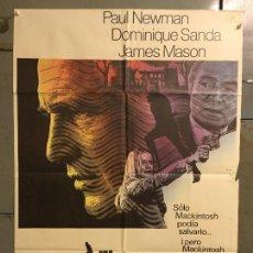 Cine: CDO M846 EL HOMBRE DE MACKINTOSH PAUL NEWMAN JOHN HUSTON POSTER ORIGINAL 70X100 ESTRENO. Lote 291513063