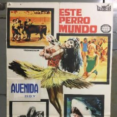 Cine: CDO M851 MONDO CANE ESTE PERRO MUNDO TRASH POSTER ORIGINAL 70X100 ESTRENO. Lote 291834083
