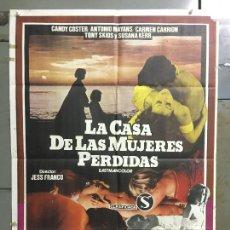 Cine: CDO M855 LA CASA DE LAS MUJERES PERDIDAS JESUS FRANCO SEXPLOITATION POSTER ORIGINAL 70X100 ESTRENO. Lote 291844818