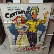 Cine: EL MAGO CANTINFLAS POSTER ORIGINAL 70X100 ESTRENO YY(2762). Lote 291983603