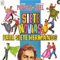 Cine: CARTEL DE CINE. + 1 FOTOCROMO 7NOVIAS PARA 7 HERMANOS. Lote 292174693