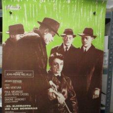 Cinema: CARTEL ORIGINAL - EL EJERCITO DE LAS SOMBRAS - LINO VENTURA -100 X 70. Lote 292605603