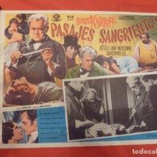 Cine: CINE MEXICANO BORIS KARLOFF PASAJES SAGRIENTOS 42X32. Lote 292608943