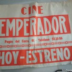 Cinema: CARTEL HOY ESTRENO CINES EMPERADOR AÑOS 70. Lote 292954733