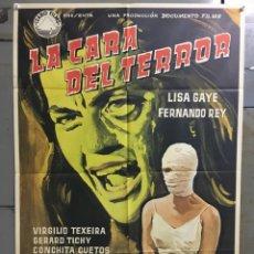 Cine: ABK36 LA CARA DEL TERROR LISA GAYE FERNANDO REY POSTER ORIGINAL 70X100 ESTRENO. Lote 293247143