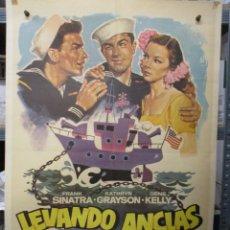 Cine: CARTEL ORIGINAL - LEVANDO ANCLAS - FRANK SINATRA - GENE KELLY - 100 X 70. Lote 293247828