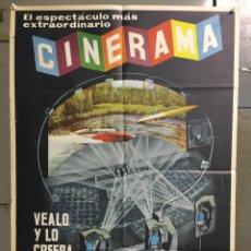 Cine: ABK43 CINERAMA MUY RARO POSTER ORIGINAL ESTRENO 70X100. Lote 293249913