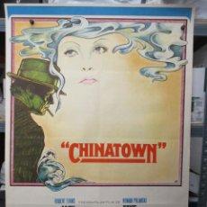 Cinema: CARTEL ORIGINAL - CHINATOWN - JACK NICHOLSON - FAE DUNAWAY -100 X 70. Lote 293253268