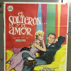 Cine: CDO M943 EL SOLTERON Y EL AMOR FRANK SINATRA DEBBIE REYNOLDS POSTER ORIGINAL 70X100 ESTRENO. Lote 293414303