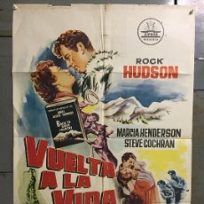 Cine: CDO M945 VUELTA A LA VIDA ROCK HUDSON CIFESA POSTER ORIGINAL 70X100 ESTRENO. Lote 293414853