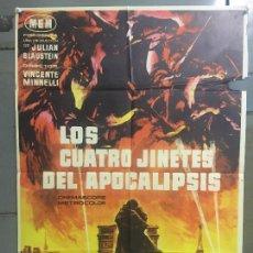 Cine: CDO M951 LOS CUATRO JINETES DEL APOCALIPSIS GLENN FORD POSTER ORIGINAL 70X100 ESTRENO. Lote 293418128
