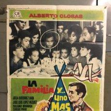Cine: CDO M955 LA FAMILIA Y UNO MAS ALBERTO CLOSAS SOLEDAD MIRANDA MAC POSTER ORIGINAL 70X100 ESTRENO. Lote 293419403