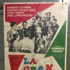 Cine: CDO M956 LA GRAN FAMILIA ALBERTO CLOSAS JOSE ISBERT MAC POSTER ORIGINAL ESTRENO 70X100. Lote 293419668