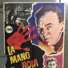 Cine: CDO M960 LA MANO ROJA PAUL HUBSCHMID ELEANORA ROSSI-DRAGO POSTER ORIGINAL ESPAÑOL 70X100 ESTRENO. Lote 293422628
