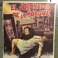 Cine: CDO M962 EL JOROBADO DE LA MORGUE PAUL NASCHY POSTER ORIGINAL 70X100 ESTRENO. Lote 293423073