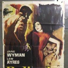 Cine: CDO M965 BELINDA JANE WYMAN LEW AYRES JANO POSTER ORIGINAL 70X100 ESPAÑOL R-64. Lote 293423768