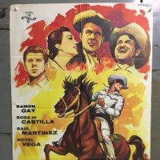 Cine: CDO M967 EL TERROR BLANCO / AQUI ESTAN LOS VILLALOBOS RAMON GAY POSTER ORIGINAL 70X100 ESTRENO. Lote 293424398