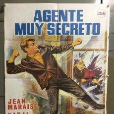 Cine: CDO M969 AGENTE MUY SECRETO JEAN MARAIS POSTER ORIGINAL 70X100 ESTRENO. Lote 293424888