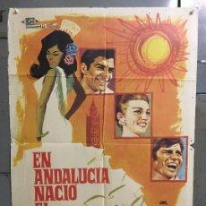 Cine: CDO M970 EN ANDALUCIA NACIO EL AMOR ROCIO JURADO EL CORDOBES TOROS JANO POSTER ORIG 70X100 ESTRENO. Lote 293425048