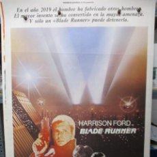 Cine: CARTEL ORIGINAL - BLADE RUNNER - HARRISON FORD - 100 X 70 - MUY BUEN ESTADO. Lote 293431588