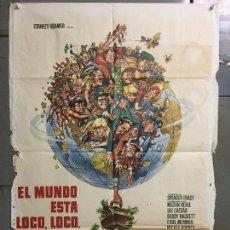 Cine: CDO M974 EL MUNDO ESTA LOCO LOCO LOCO LOCO SPENCER TRACY POSTER ORIGINAL 70X100 ESPAÑOL R-74. Lote 293434148