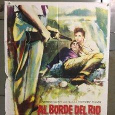 Cine: CDO M976 AL BORDE DEL RIO RAY MILLAND ANTHONY QUINN DEBRA PAGET MAC POSTER ORIG ESTRENO 70X100. Lote 293435193