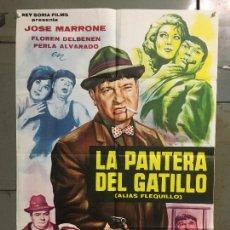 Cine: CDO M980 LA PANTERA DEL GATILLO JOSE MARRONE POSTER ORIGINAL 70X100 ESTRENO. Lote 293436383