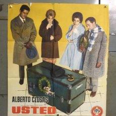 Cine: CDO M982 USTED PUEDE SER UN ASESINO ALBERTO CLOSAS LOPEZ VAZQUEZ POSTER ORIGINAL 70X100 ESTRENO. Lote 293437873