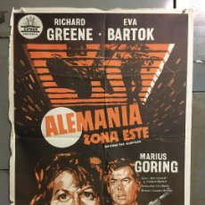 Cine: CDO M994 ALEMANIA ZONA ESTE RICHARD GREENE EVA BARTOK POSTER ORIGINAL 70X100 ESTRENO. Lote 293445903