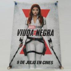 Cine: PÓSTER DE LA PELÍCULA VIUDA NEGRA - BLACK WIDOW CON SCARLETT JOHANSSON DE MARVEL. APROX 98CM X 68CM. Lote 293446043