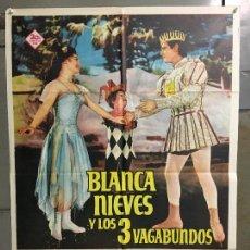 Cine: CDO N006 BLANCA NIEVES Y LOS TRES VAGABUNDOS POSTER ORIGINAL 70X100 ESTRENO. Lote 293452773
