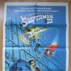 Cine: CARTEL CINE, SUPERMAN III, CHRISTOPHER REEVE, 1983, C777. Lote 293578338