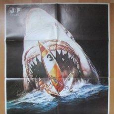 Cine: CARTEL CINE TIBURON 3 JAMES FRANCISCUS VIC MORROW 1981 C2087. Lote 293585088