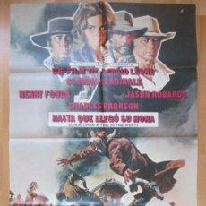 Cine: CARTEL CINE, HASTA QUE LLEGO SU HORA, HENRY FONDA. CLAUDIA CARDINALE, CHARLES BRONSON, 1969, C415. Lote 293594303