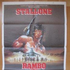 Cine: CARTEL CINE RAMBO III SYLVESTER STALLONE RICHARD CRENNA 1988 C2089. Lote 293598938