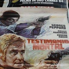 Cine: 1 METROX70 ORIGINAL TESTIMONIO MORTAL M 33.636 1974 GEIRGE PEPOARD RIGER ROBISON EUGENE R0CHE. Lote 293635923