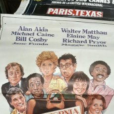Cine: 79X100.5 CARTEL ORIGINAL CALIFORNIA SUITE COLUMBIA RAY STARKEY 1978 SUECIA FILM. Lote 293636968