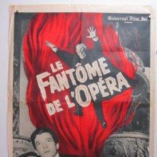 Cine: EL FANTASMA DE LA OPERA - POSTER CARTEL ORIGINAL FRANCIA - HERBERT LOM TERENCE FISCHER HAMMER PROD. Lote 293640238