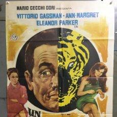 Cine: CDO N047 UN TIGRE EN LA RED VITTORIO GASSMAN ANN-MARGRET POSTER ORIGINAL 70X100 ESTRENO. Lote 293746463