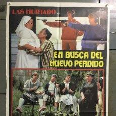 Cine: CDO N048 EN BUSCA DEL HUEVO PERDIDO HERMANAS HURTADO POSTER ORIGINAL 70X100 ESTRENO. Lote 293748963