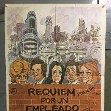 Cine: CDO N050 REQUIEM POR UN EMPLEADO PEDRO OSINAGA MONICA RANDALL MADRID POSTER ORIGINAL 70X100 ESTRENO. Lote 293750898