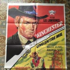 Cine: WINCHESTER UNO ENTRE MIL PETER LEE LAWRENCE WESTERN FERNANDO SANCHO POSTER CARTEL ORIGINAL ESTRENO. Lote 293771538