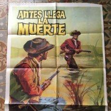 Cine: ANTES LLEGA LA MUERTE FERNANDO SANCHO POSTER CARTEL ORIGINAL ESTRENO. Lote 293773953