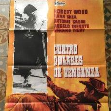 Cine: CUATRO DOLARES DE VENGANZA POSTER CARTEL ORIGINAL ESTRENO. Lote 293774123
